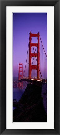 Framed Golden Gate Bridge San Francisco (horizontal) Print