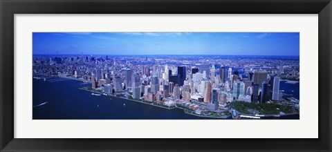 Framed Aerial, Lower Manhattan, NYC, New York City, New York State, USA Print