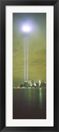 Framed Evening, Towers Of Light, Lower Manhattan, NYC, New York City, New York State, USA Print