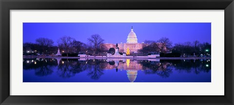 Framed Christmas, US Capitol, Washington DC, District Of Columbia, USA Print