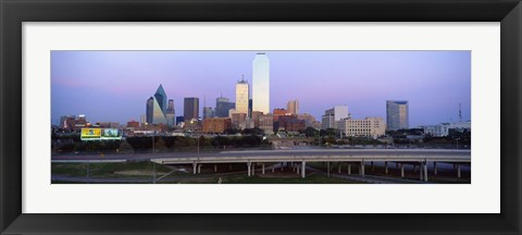 Framed Dallas on a cloudy day, TX Print