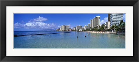 Framed Waikiki Beach Honolulu Oahu HI Print