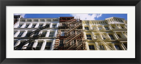 Framed Low Angle View Of A Building, Soho, Manhattan, NYC, New York City, New York State, USA Print