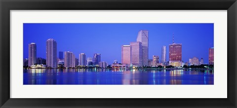 Framed Dusk, Miami Florida, USA Print