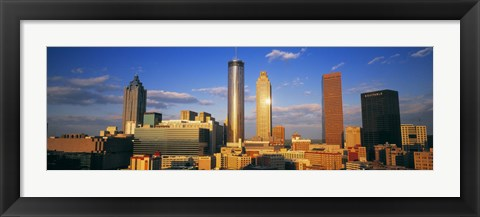 Framed Atlanta, Georgia Skyline (day) Print