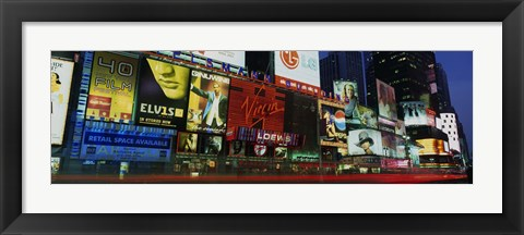 Framed Billboards On Buildings In A City, Times Square, NYC, New York City, New York State, USA Print