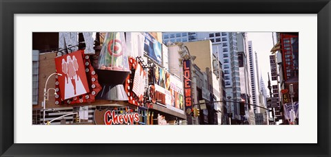 Framed Signs in Times Square, NYC Print