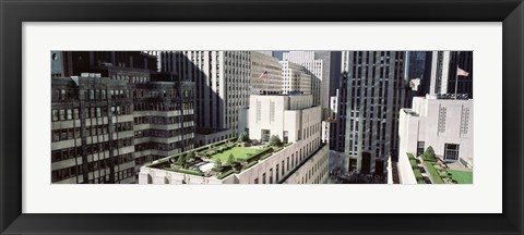 Framed Rooftop View Of Rockefeller Center, NYC, New York City, New York State, USA Print