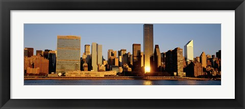 Framed Skyline, Manhattan, New York State, USA Print
