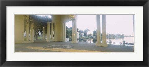 Framed Building on the waterfront, Lake Merritt, Oakland, California, USA Print