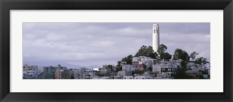Framed Coit Tower On Telegraph Hill, San Francisco, California, USA Print