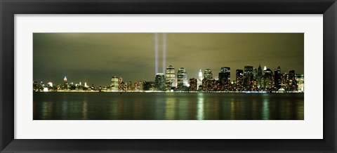 Framed Beams Of Light, New York, New York State, USA Print