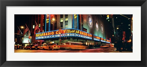 Framed Manhattan, Radio City Music Hall, NYC, New York City, New York State, USA Print