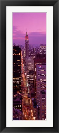 Framed High angle view of a city, Fifth Avenue, Midtown Manhattan, New York City, New York State, USA Print