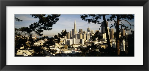 Framed View Of San Francisco, California Print