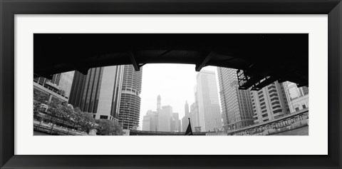 Framed Low angle view of buildings, Chicago, Illinois, USA Print