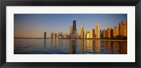 Framed Buildings on the waterfront, Chicago, Illinois, USA Print