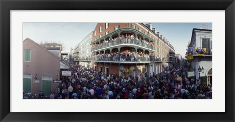 Framed People celebrating Mardi Gras festival, New Orleans, Louisiana, USA Print