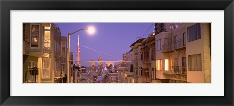 Framed City At Night, San Francisco, California, USA Print