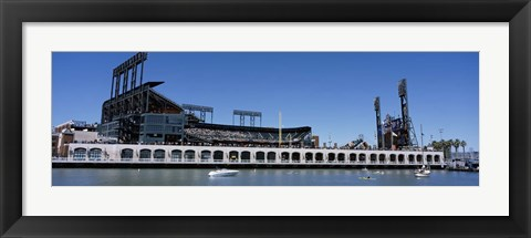Framed USA, California, San Francisco, SBC Ballpark, Stadium near the water Print