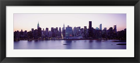 Framed USA, New York State, New York City, Skyscrapers in a city Print