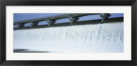Framed USA, Ohio, Columbus, Big Walnut Creek, Low angle view of a Dam Print