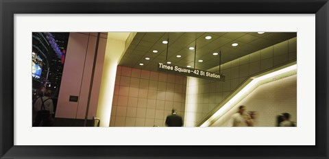 Framed USA, New York State, New York City, Times Square, Low angle view of a subway station Print