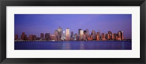Framed Skyscrapers in a city, Manhattan, New York Print