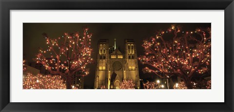 Framed Facade Of A Church, Grace Cathedral, San Francisco, California, USA Print
