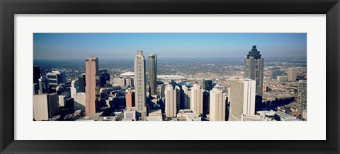 Framed Aerial view of Atlanta skyscrapers, Georgia Print