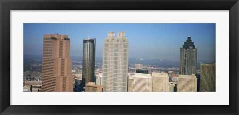 Framed Skyscrapers in a city, Atlanta, Georgia, USA Print