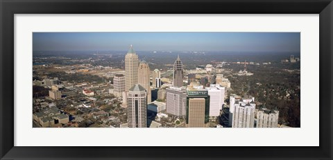 Framed High angle view of buildings in a city, Atlanta, Georgia, USA Print