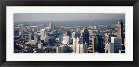 Framed High angle view of Atlanta, Georgia, USA Print