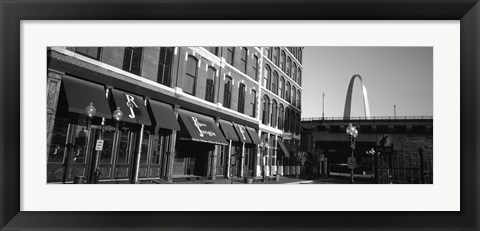 Framed Entrance Of A Building, Old Town, St. Louis, Missouri, USA Print
