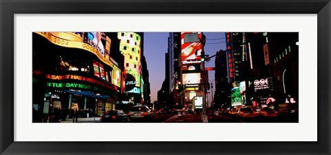 Framed Times Square, New York City at night Print