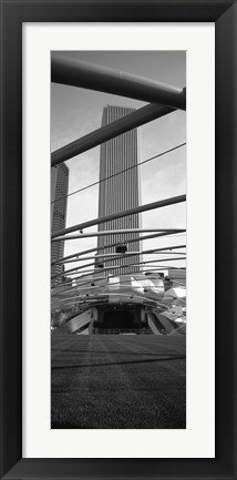 Framed Low angle view of a metal structure, Pritzker Pavilion, Millennium Park, Chicago, Illinois, USA Print