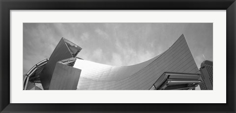 Framed Low Angle View Of A Building, Millennium Park, Chicago, Illinois, USA Print