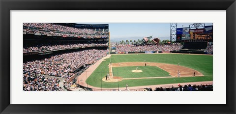 Framed High angle view of a stadium, Pac Bell Stadium, San Francisco, California Print