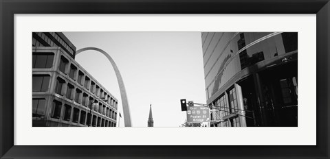 Framed Low Angle View Of Buildings, St. Louis, Missouri, USA Print