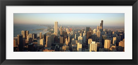 Framed High angle view of buildings in a city, Chicago, Illinois Print