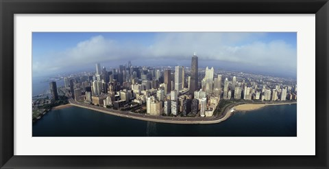 Framed High angle view of buildings at the waterfront, Chicago, Illinois, USA Print
