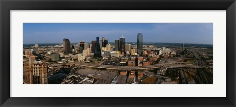 Framed Aerial view of a city, Dallas, Texas, USA Print