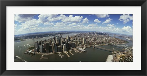Framed Aerial View of New York City Print