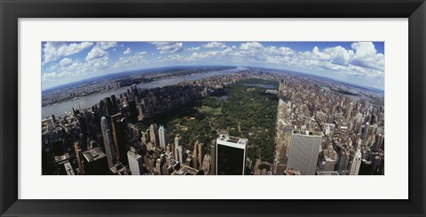 Framed Aerial View of New York City with Central Park Print