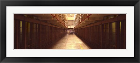 Framed Cell Block In A Prison, Alcatraz Island, San Francisco, California, USA Print