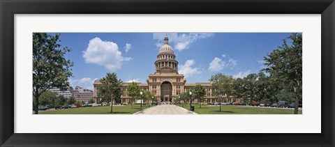Framed Facade of a government building, Texas State Capitol, Austin, Texas, USA Print