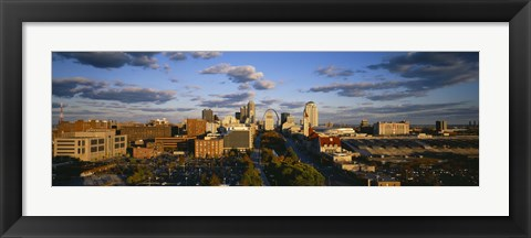 Framed High Angle View of St. Louis, Missouri Print