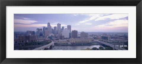 Framed Buildings In A City, Minneapolis, Minnesota, USA Print
