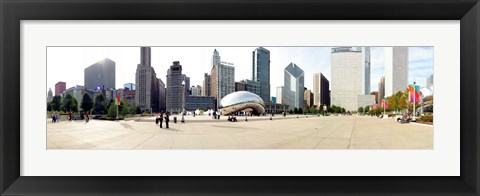Framed Buildings in a city, Millennium Park, Chicago, Illinois, USA Print