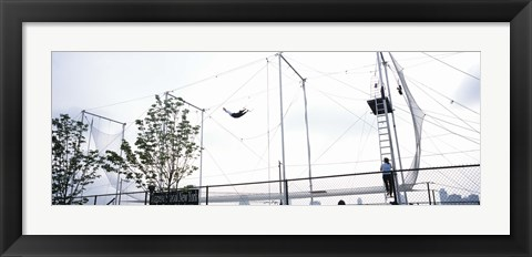 Framed Trapeze School New York, Hudson River Park, NYC, New York City, New York State, USA Print